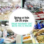[Tổng Hợp] Đơn hàng chế biến thực phẩm lương cao phí rẻ bay sớm