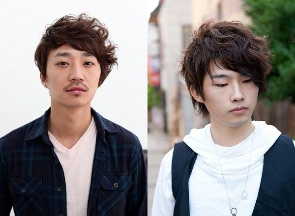 Kiểu tóc xoăn layer nam Nhật Bản gợn sóng đầy lãng tử.