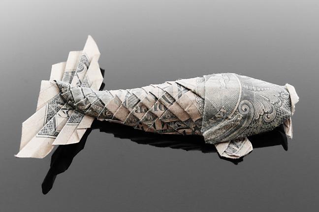 Lịch sử Origami Nhật Bản: Sáng tạo với Origami hình con cá từ tiền