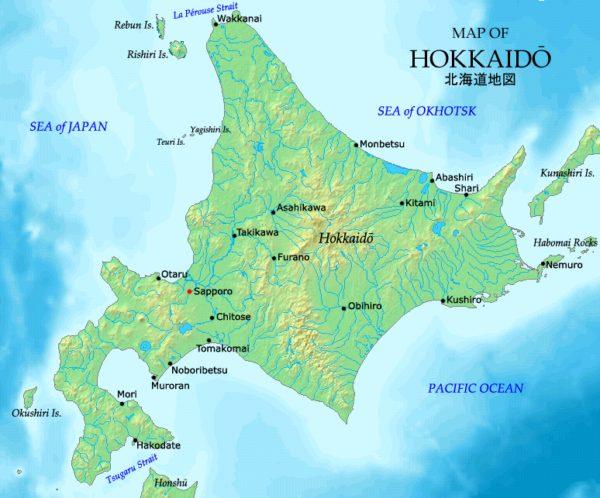 Bản đồ vùng Hokkaido
