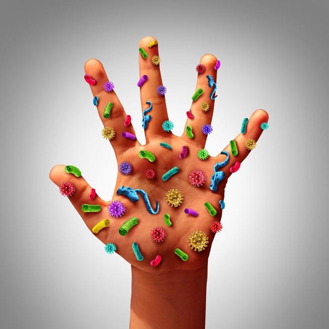 vi khuẩn ở bàn tay