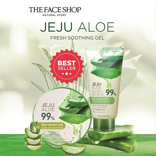 Gel Dưỡng Da Đa Năng TheFaceShop Jeju Aloe Fresh Soothing Ge sản phẩm dưỡng da bằng nha đam